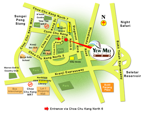 Location Map of Yew Mei Green